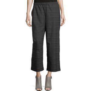 Eileen Fisher Plaid Wool Pants L